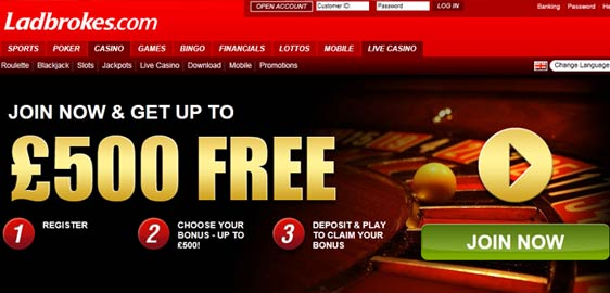 Ladbrokes Casino Offer