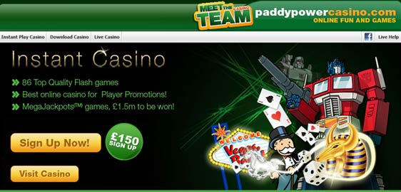 PaddyPower Casino Signup Offer